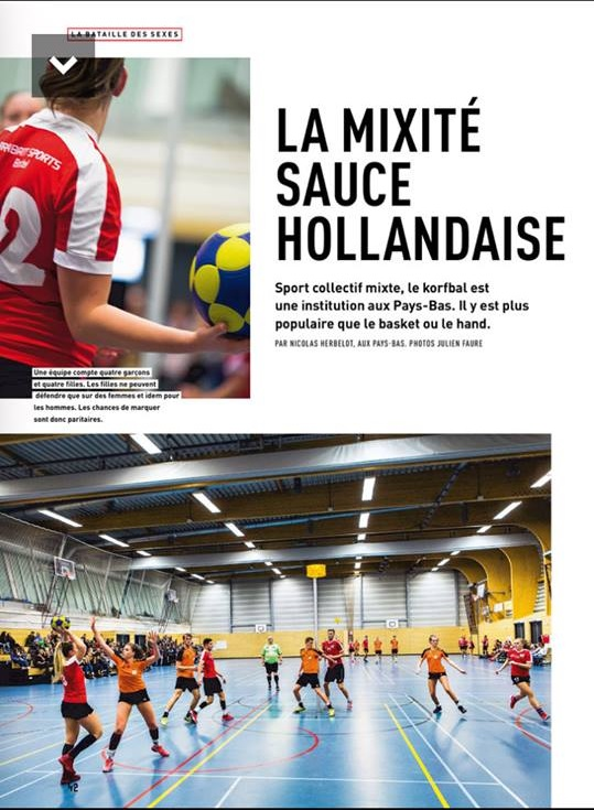 Article du journal l'Equipe page 1