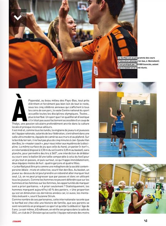 Article du journal l'Equipe page 2