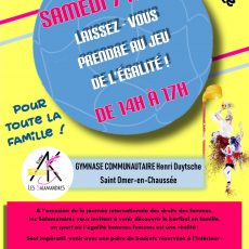 Après-midi découverte du korfbal à l'occasion de la journée internationale des droits des femmes.